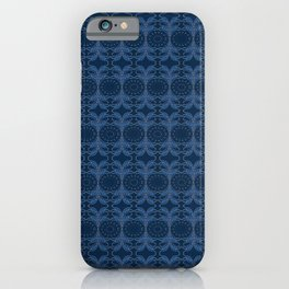 Japanese inspired stitching blue and white iPhone Case