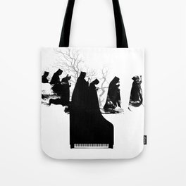 Piano Procession Tote Bag