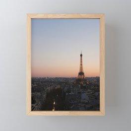 Eiffel Tower During Sunset Framed Mini Art Print