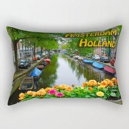 Amsterdam Holland Canal Rectangular Pillow
