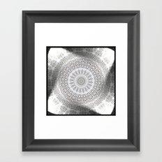 METAL Element Kaleido Pattern Framed Art Print