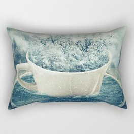 winter holiday cup Rectangular Pillow