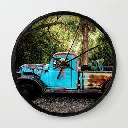 Broken and Blue Wall Clock