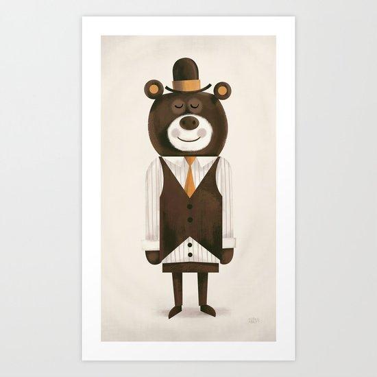 Business Bear Art Print