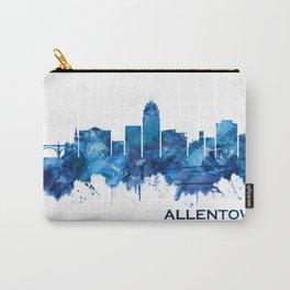 Allentown Pennsylvania Skyline Blue Carry-All Pouch
