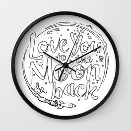 Love You to the Moon & Back...Coloring Page Wall Clock