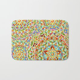 Rainbow Candy Trinkets Bath Mat