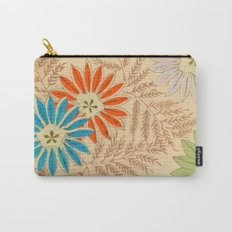 Japanese Vintage Flowers Pattern Carry-All Pouch