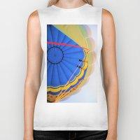 hot air balloon Biker Tanks featuring BALLOON LOVE - Hot Air Balloon by Brian Raggatt