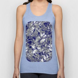 Grunge Art Silver Floral Abstract G169 Unisex Tank Top
