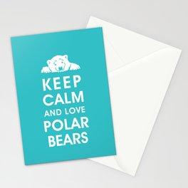 Keep Calm and Love Polar Bears Stationery Cards