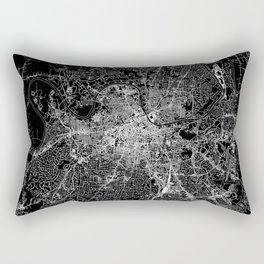 Nashville Black Map Rectangular Pillow