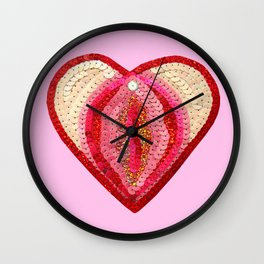 Sequin Vagina Wall Clock