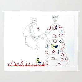 I Will Kick You Art Print