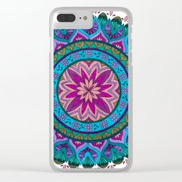 Meditation Mandala Clear iPhone Case