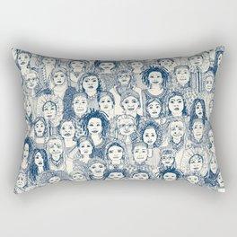 WOMEN OF THE WORLD BLUE Rectangular Pillow