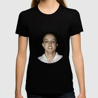 She Shaved Her Head For Our Sins SMALL Black Womens Fitted Tee