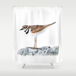Killdeer Art 1 by Teresa Thompson Shower Curtain