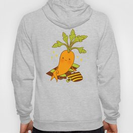 Cute Carrot on Vacation Chilling at the Beach Feeling Relax Hoody