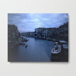 Vintage Color Photo * Kodachrome * 1950's * View from the Rialto Bridge * Venice Metal Print
