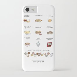 Foods of 30 Rock iPhone Case