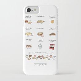 Foods of 30 Rock iPhone Case