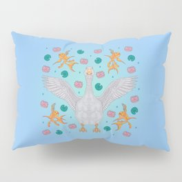 White Goose: Front View Pillow Sham