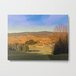 Peaceful panorama with warm colors | landscape photography Metal Print