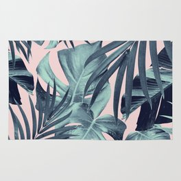 Tropical Jungle Leaves Pattern #8 #tropical #decor #art #society6 Rug