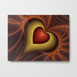 Fractal The Heart Metal Print