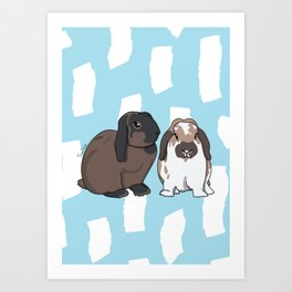 Oreo and Teddy Art Print