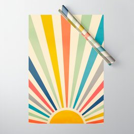 Sun Retro Art III Wrapping Paper