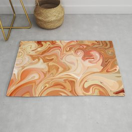 Marble Abstract Pink Sahara Desert Rug
