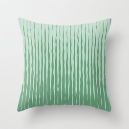 Simple Abstract Rough Organic Stripes | Dark Natural Colors, Grass and Forest Throw Pillow