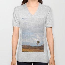Lanzarote Palm tree landscape Unisex V-Neck
