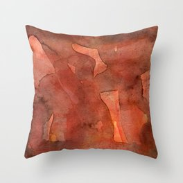 Abstract Nudes Throw Pillow