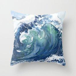 Kai's Wave Throw Pillow