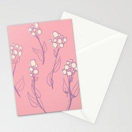 Violet flower Stationery Cards