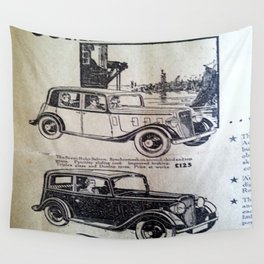 Vintage Cars Wall Tapestry