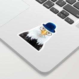 Funny Eagle Portrait Sticker