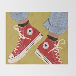 Red Converse Sweet Kicks Throw Blanket