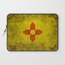 Flag of New Mexico - vintage retro style Laptop Sleeve