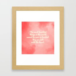 The most beautiful things... The Little Prince quote Framed Art Print