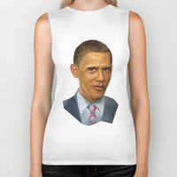 obama Biker Tanks featuring Obama 2012 by HOPE 4 MORE