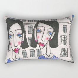 Sœurs à Bruxelles (Sisters in Brussels) Rectangular Pillow