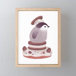 Cookie & cream & penguin Framed Mini Art Print