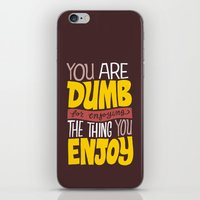 internet iPhone & iPod Skins featuring Internet Comments by Chris Piascik