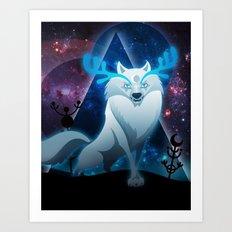 The wonder wolf Art Print