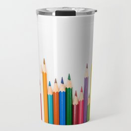 Color pencils in pattern Travel Mug
