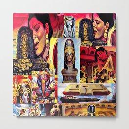 Zeenat's Phallus Metal Print